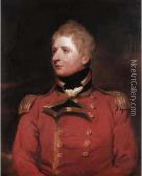 Portrait Of A Gentleman, Thought To Be Lieutenant-general Wheler Oil Painting - Sir William Beechey