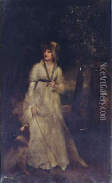 Portrait Of Mrs. Hatfield Oil Painting - Sir William Beechey