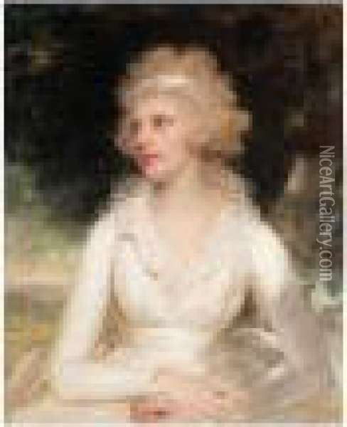 Portrait Of Sophia Anne Raymond-barker Oil Painting - Sir William Beechey