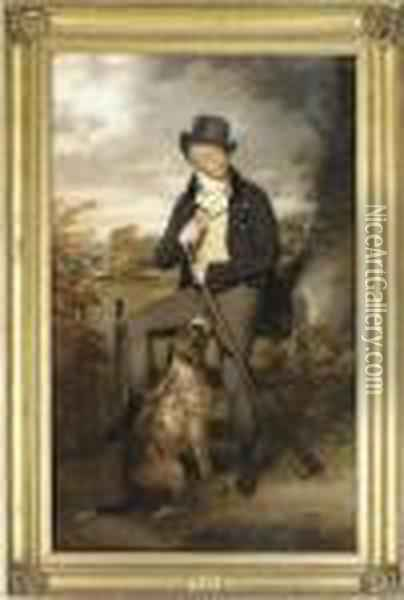 Portrait Of Richard Thompson Oil Painting - Sir William Beechey