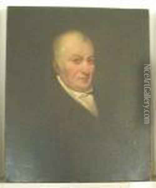 Half Length Portrait Of A Gentleman Oil Painting - Sir William Beechey
