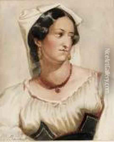 Portait Of Eliza O'neill As Isabella Oil Painting - Sir William Beechey