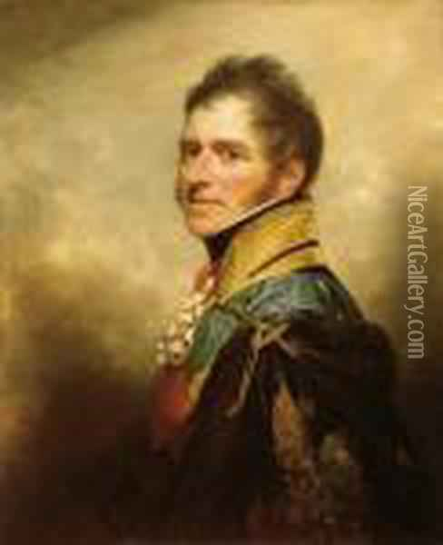 Portrait Of Henry William Paget Oil Painting - Sir William Beechey