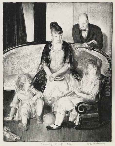 My Family, Second Stone Oil Painting - George Wesley Bellows
