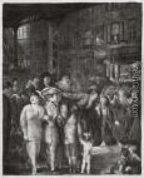 The Street Oil Painting - George Wesley Bellows