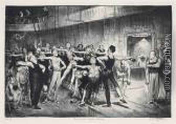Business-men's Class Oil Painting - George Wesley Bellows