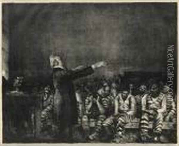 Benediction In Georgia Oil Painting - George Wesley Bellows