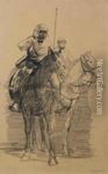 Cavalry Officer Oil Painting - George Wesley Bellows