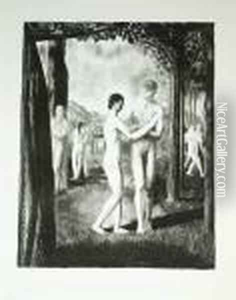 The Lovers That Passed Him By Oil Painting - George Wesley Bellows