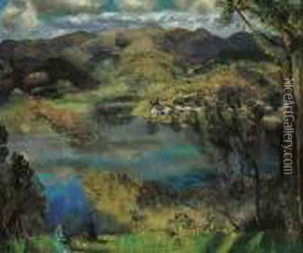 River At Saugerties Oil Painting - George Wesley Bellows