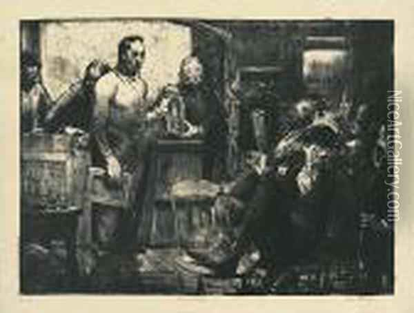 The Jury. Oil Painting - George Wesley Bellows