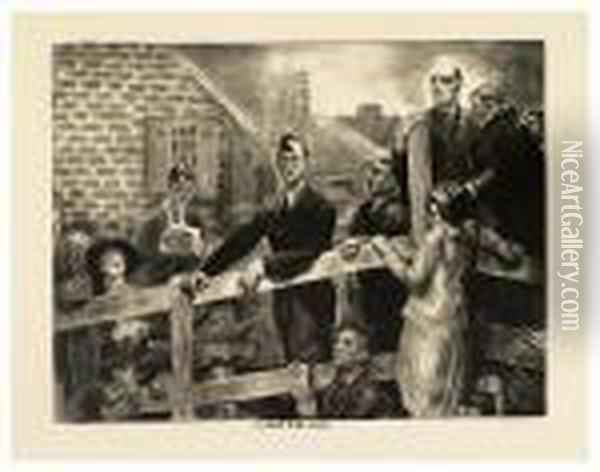 The Appeal To The People. Oil Painting - George Wesley Bellows