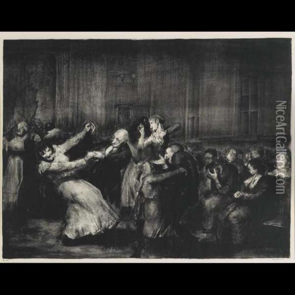 Dance In A Madhouse, 1917 [mason 49] Oil Painting - George Wesley Bellows