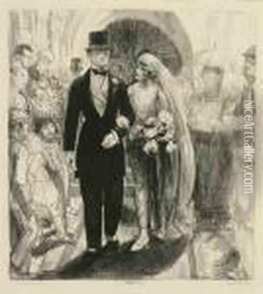 The Wedding Oil Painting - George Wesley Bellows