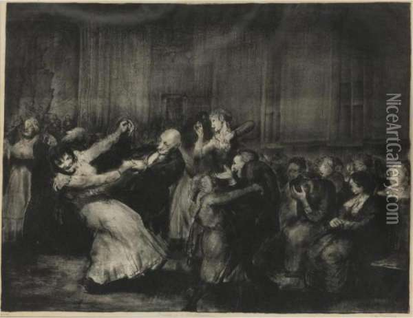 Dance In A Madhouse (mason 49) Oil Painting - George Wesley Bellows