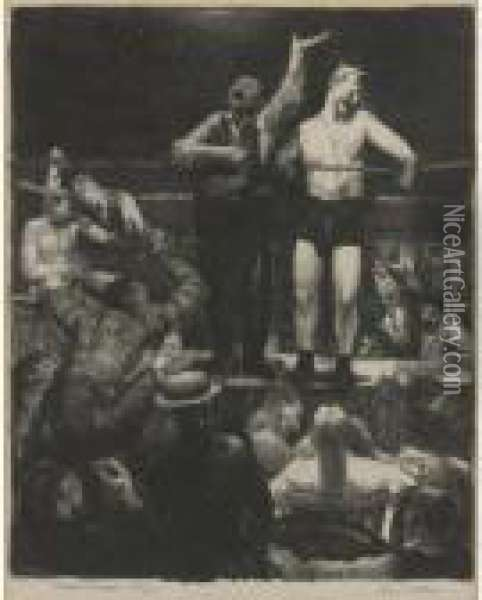 The White Hope; And Introductions (m. 96 And 97) Oil Painting - George Wesley Bellows