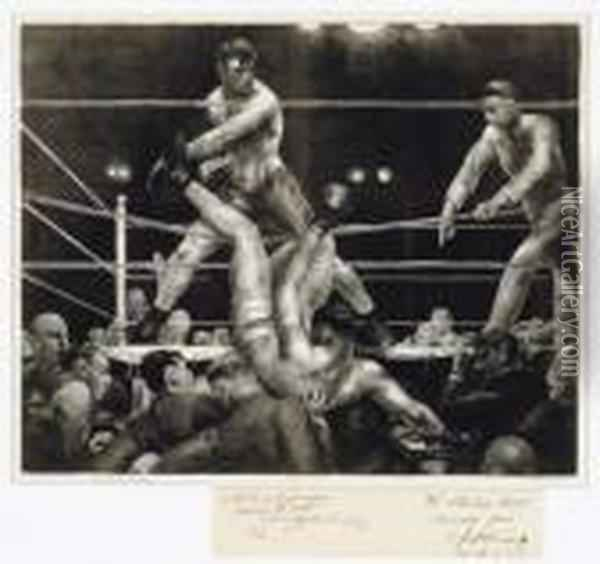 Dempsey And Firpo (m. 181) Oil Painting - George Wesley Bellows