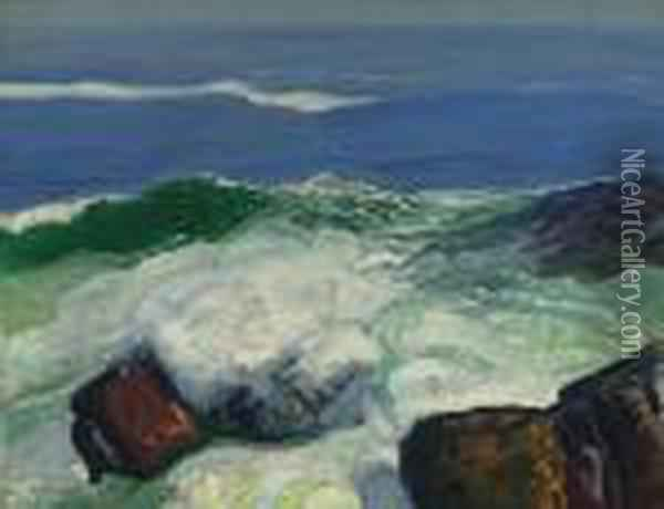 Out Of The Calm Oil Painting - George Wesley Bellows