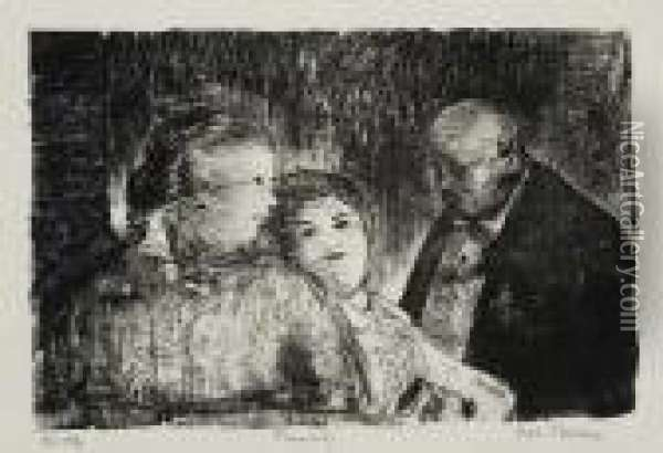Family Oil Painting - George Wesley Bellows