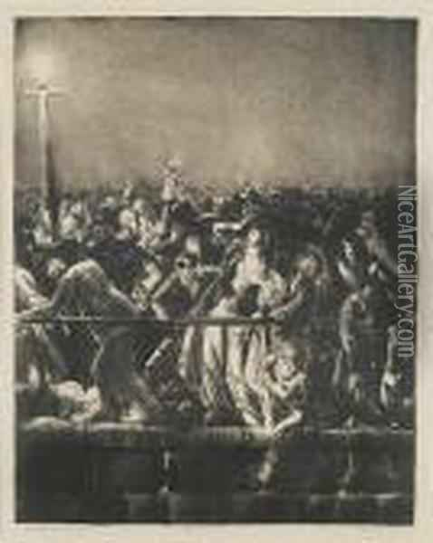 The Crowd Oil Painting - George Wesley Bellows