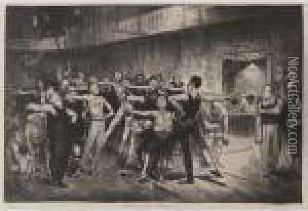 Business-men's Class (mason 20) Oil Painting - George Wesley Bellows