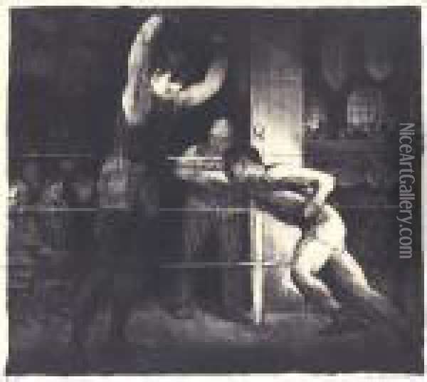 Training Quarters (m. 23) Oil Painting - George Wesley Bellows