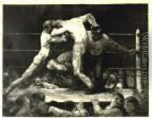 A Stag At Sharkey's (m. 46) Oil Painting - George Wesley Bellows