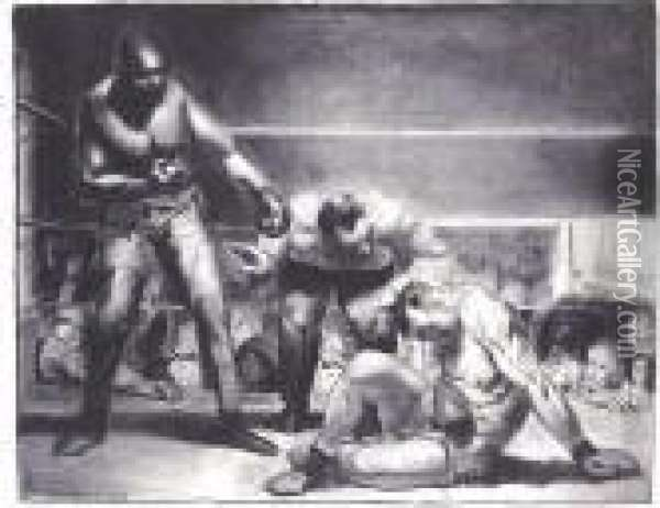 The White Hope (m. 96) Oil Painting - George Wesley Bellows