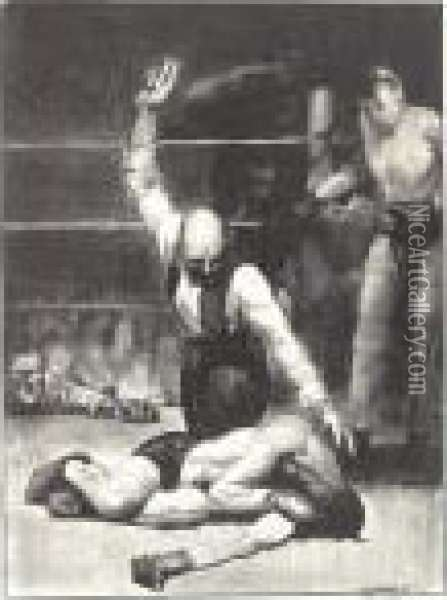 Counted Out, First Stone (m. 94) Oil Painting - George Wesley Bellows