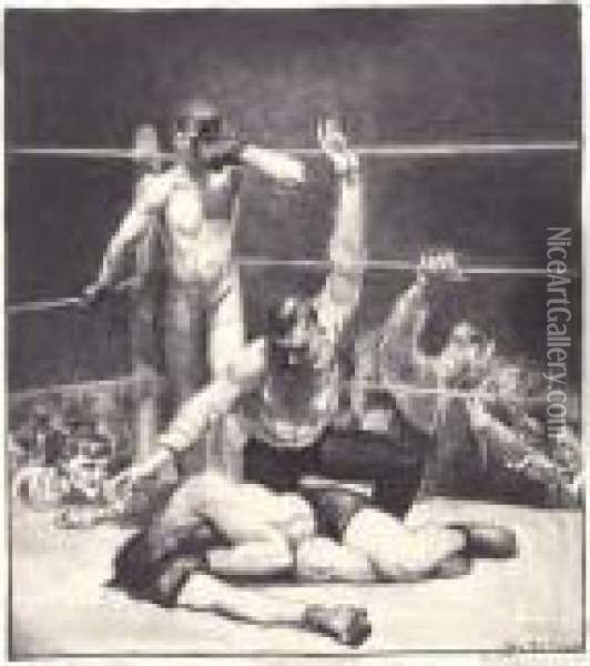 Counted Out, Second Stone (m. 95) Oil Painting - George Wesley Bellows