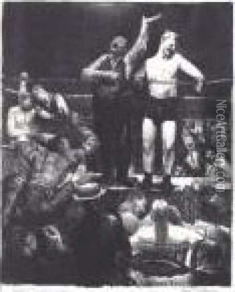 Introductions (m. 97) Oil Painting - George Wesley Bellows