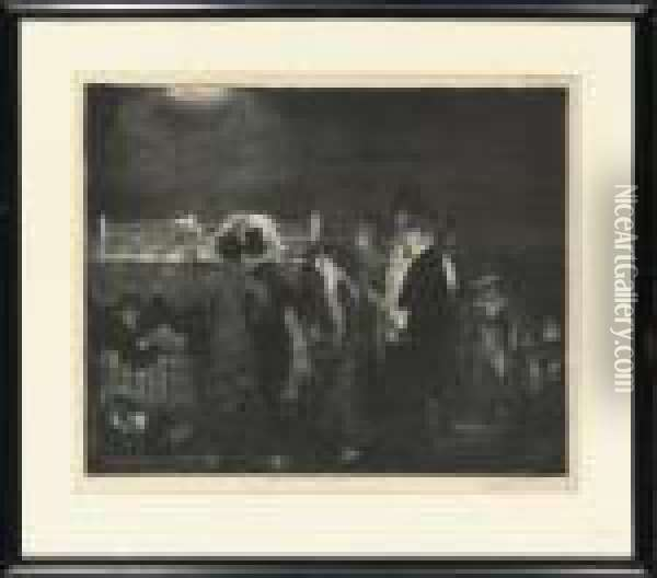 Preliminaries (mason 24) Oil Painting - George Wesley Bellows