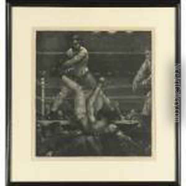 Dempsey Through The Ropes (mason 182) Oil Painting - George Wesley Bellows