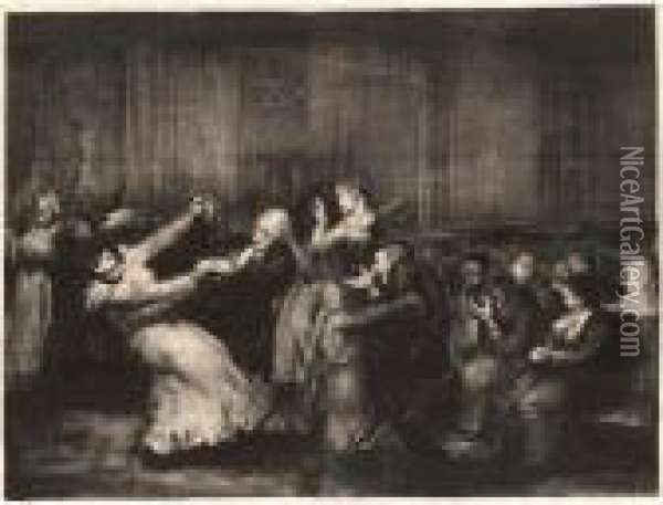 Dance In The Madhouse (mason 49; Bellows 92) Oil Painting - George Wesley Bellows