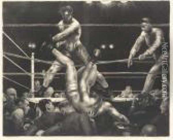 Dempsey And Firpo (b. 89; M. 181) Oil Painting - George Wesley Bellows