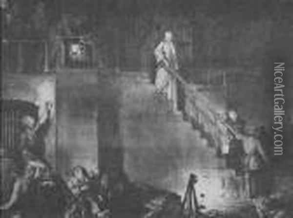 Murder Of Edith Cavell Oil Painting - George Wesley Bellows