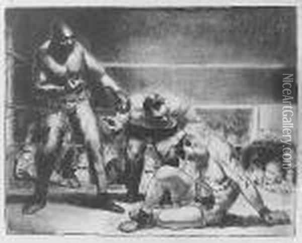 The White Hope (m. 96; B. 44) Oil Painting - George Wesley Bellows