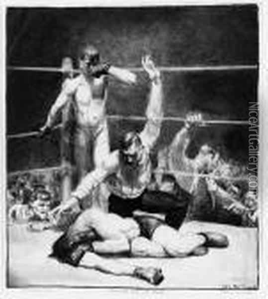 Untitled Oil Painting - George Wesley Bellows