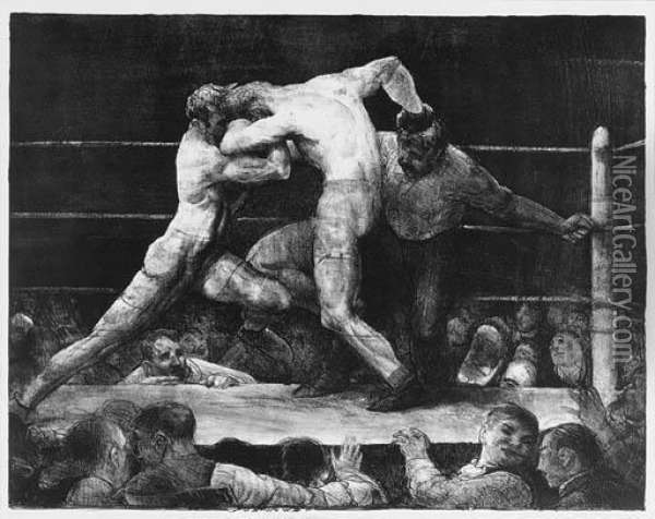 Bellows Oil Painting - George Wesley Bellows