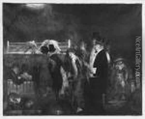 Bellows Preliminaries (preliminaries To The Big Bout) (m. 24) Oil Painting - George Wesley Bellows