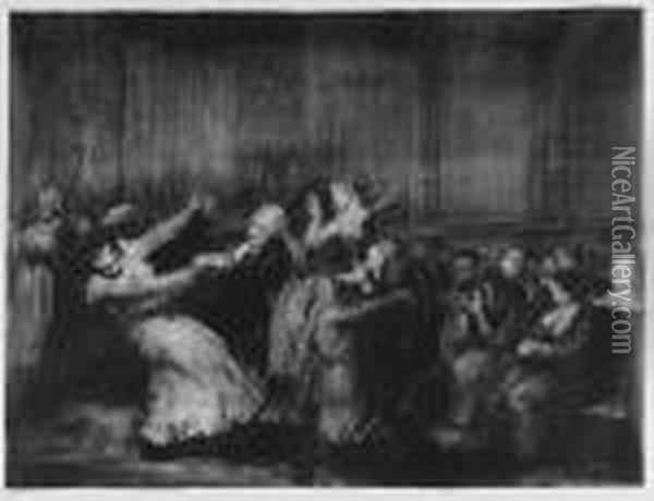 Dance In A Madhouse (m. 49) Oil Painting - George Wesley Bellows