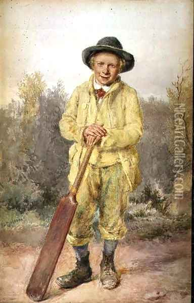 The Cricketer Oil Painting - William Henry Hunt