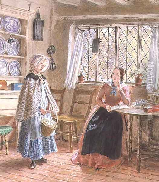 Hearing Lessons Oil Painting - William Henry Hunt