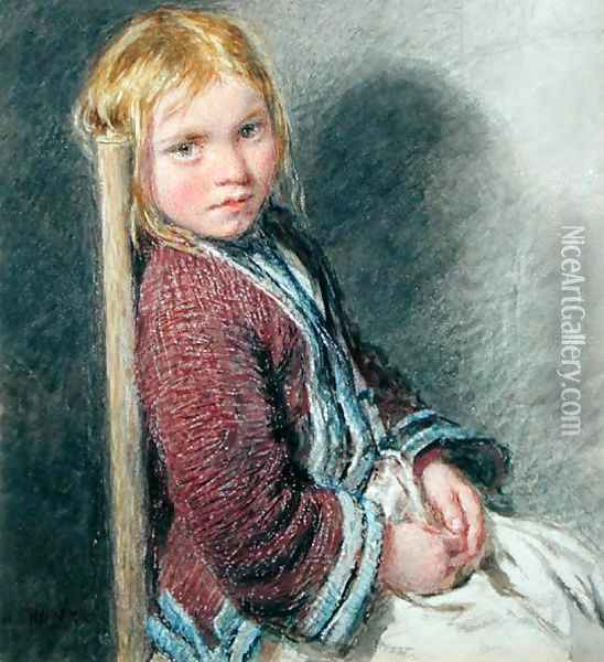 The Shy Sitter Oil Painting - William Henry Hunt