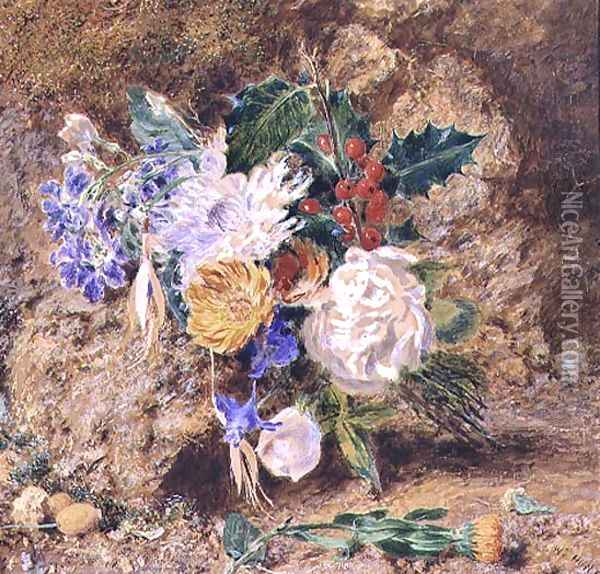 Winter Flowers Oil Painting - William Henry Hunt