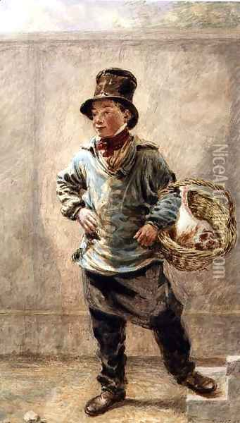 The Butchers Boy Oil Painting - William Henry Hunt