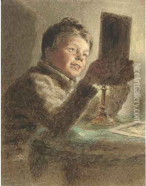 The Young Connoisseur Oil Painting - William Henry Hunt