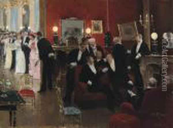 Scene De Bal: At The Ball Oil Painting - Jean-Georges Beraud