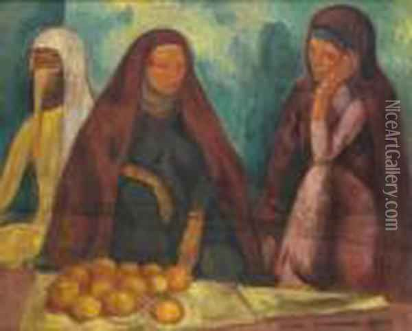 Egyptiennes Oil Painting - Emile Bernard