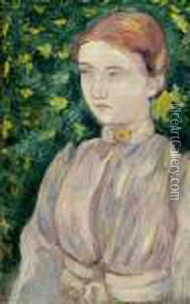 Portrait Of Madeleine Bernard Oil Painting - Emile Bernard